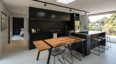 TIDA New Zealand Kitchens – proudly brought to house, interior design, kitchen, real estate, table, gray, black