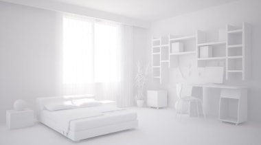 Visualising a home renovation project from plans can architecture, bed, bed frame, black and white, floor, furniture, home, interior design, product, product design, room, gray