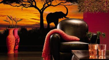 African Sunset Interieur - Italian Color Range - interior design, lighting, wall, black, brown