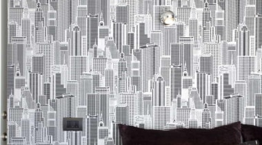 High-rise building wallpaper - Bedroom and Wallpaper - architecture, black and white, design, interior design, pattern, wall, wallpaper, white, gray, black