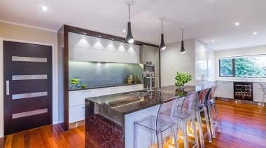 Open plan - countertop | estate | home countertop, estate, home, interior design, kitchen, property, real estate, gray