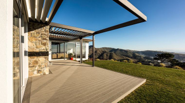 The Terrain Collection deck will enrich the natural architecture, daylighting, estate, home, house, property, real estate, roof, sky, brown