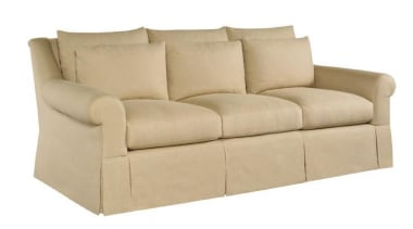 A balance between the classic, a sense of angle, couch, furniture, loveseat, outdoor sofa, product design, sofa bed, white, orange