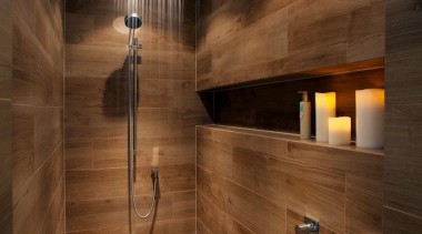Etic wood look tiles - Etic wood look architecture, bathroom, floor, flooring, hardwood, interior design, lighting, lobby, room, tile, wall, wood, wood flooring, brown