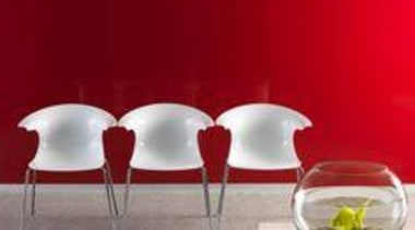 Walls featuring Seratone Fire In The Disco. - chair, furniture, glass, interior design, product, product design, red, table, red, gray