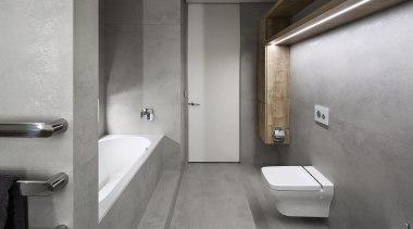 Winner – Regional Bathroom Award – Lower North architecture, bathroom, bidet, floor, interior design, plumbing fixture, product design, room, tap, gray