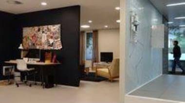 Floor featuring Collection Perla. - Chorus Offices - ceiling, floor, flooring, interior design, real estate, room, gray