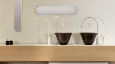 gesssi goccia 01.jpg - gesssi_goccia_01.jpg - bathroom | bathroom, bathroom accessory, bathroom sink, ceramic, furniture, interior design, plumbing fixture, product design, shelf, sink, table, tap, gray