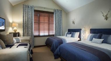 Mountain Modern - Guest Bedroom - bedroom | bedroom, ceiling, home, interior design, real estate, room, suite, window, window treatment, gray