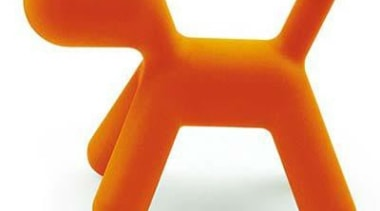 Designed by Eero Aarnio the puppy  comes chair, furniture, orange, product, product design, table, white
