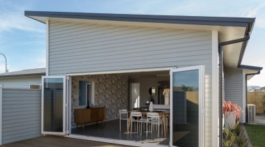 Tauranga Showhome - Tauranga Showhome - elevation | elevation, facade, home, house, porch, property, real estate, roof, siding, window, gray