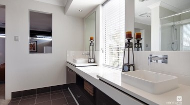 Ensuite design. - The Prodigy Display Home - architecture, bathroom, interior design, real estate, room, sink, gray