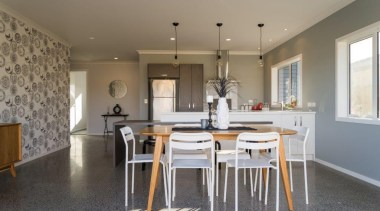 Tauranga Showhome - Tauranga Showhome - ceiling | ceiling, countertop, cuisine classique, dining room, floor, flooring, home, house, interior design, kitchen, property, real estate, room, table, gray
