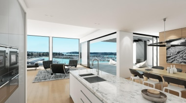 The first stage of Wynyard Central is an apartment, interior design, penthouse apartment, property, real estate, gray