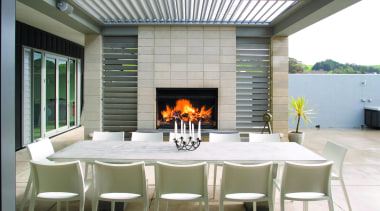 Amazing architectural series opening roof that goes with interior design, table, gray, white