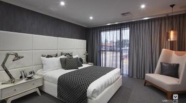 Master ensuite design. - The Monterosso Two Storey bedroom, ceiling, interior design, real estate, room, suite, gray, black