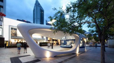 This award-winning architectural kiosk by Coniglio Ainsworth Architects architecture, building