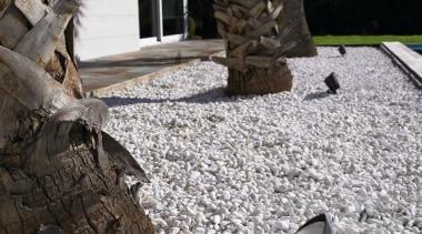 Exterior and Outdoor Lights - Exterior and Outdoor flooring, pebble, walkway, gray, black