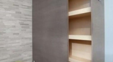 Pull out storage behind bath! - Bathroom Storage bathroom, bathroom accessory, bathroom cabinet, floor, interior design, room, shelf, sink, tap, tile, wall, gray