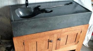 A washbasin is a washbasin is a washbasin plumbing fixture, sink, wood stain, gray, orange