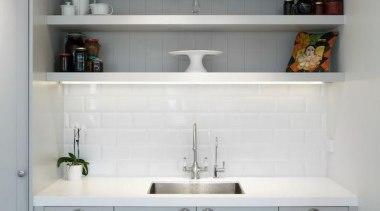 Devonport - bathroom accessory | bathroom cabinet | bathroom accessory, bathroom cabinet, cabinetry, countertop, furniture, interior design, kitchen, room, shelf, shelving, sink, wall, gray