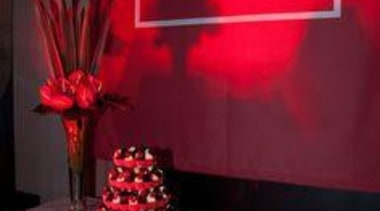 At Auckland Museum - At Auckland Museum - interior design, light, lighting, red, table, red