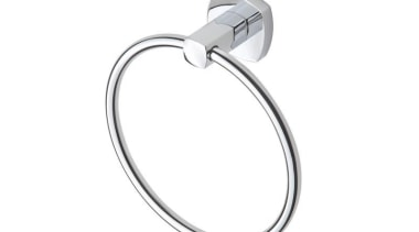 VELOSO Towel Stirrup - VELOSO Towel Stirrup - bathroom accessory, body jewelry, jewellery, platinum, product, product design, silver, white