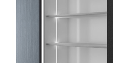 Domus Line Diva LED ProfileDesigned in Italy to angle, bathroom accessory, furniture, product design, shelf, shelving, gray