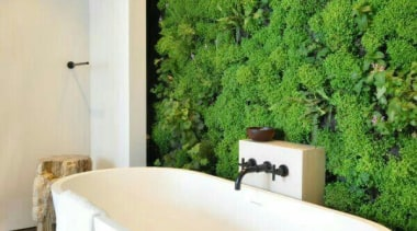 Living Wall - Vertical Garden - architecture | architecture, bathroom, estate, home, house, interior design, property, real estate, room, wall, white, green