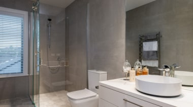 New Albany Show Home bathroom, bathroom accessory, home, interior design, property, real estate, room, gray