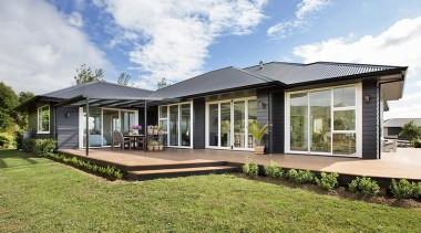 Fowler Homes Tauranga.Gold reserve winner and National finalist architecture, cottage, elevation, estate, facade, farmhouse, home, house, property, real estate, white, brown