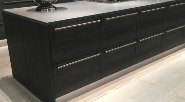 Concreate GKC CF103 4 - Concreate_GKC_CF103_4 - cabinetry cabinetry, chest of drawers, countertop, floor, flooring, furniture, kitchen, wood stain, black, white
