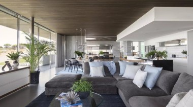 See the home house, interior design, living room, property, real estate, gray, black