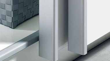 Sliding door system for universal cabinet construction. TopLine angle, product, product design, gray