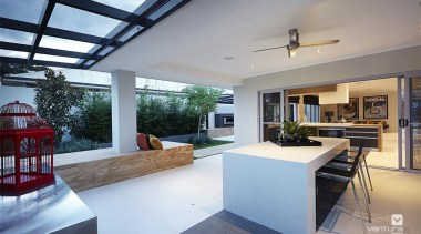 Alfresco entertaining. - The Allure Display Home - estate, house, interior design, property, real estate, window, gray