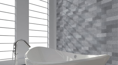 Brick Text Grey 90x300 - Brick Text Grey angle, bathroom, black and white, ceramic, daylighting, floor, flooring, interior design, product, tap, tile, wall, window, gray