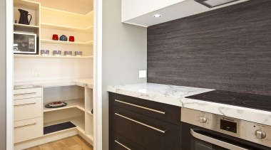 For more information, please visit www.gjgardner.co.nz cabinetry, countertop, cuisine classique, floor, flooring, home appliance, interior design, kitchen, room, white