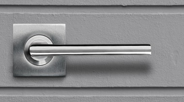 Schlage 9000/713 Albo Rose Furniture. Lever. Stainless Steel door handle, hardware accessory, line, product design, gray