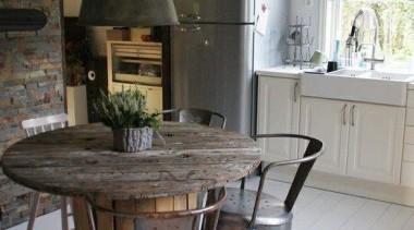 I SPY ...SMEG ...again ....Kitchen Design Ideas - chair, dining room, floor, flooring, furniture, hearth, home, interior design, kitchen, living room, room, table, gray, black