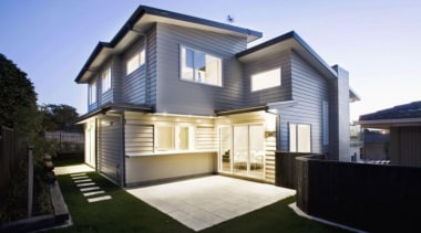Simpler and faster to instal, proven weather tight architecture, building, elevation, estate, facade, home, house, property, real estate, residential area, siding, window, black, teal