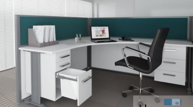 Installing a 15L Hideaway Bin in an office angle, desk, furniture, office, product, product design, gray