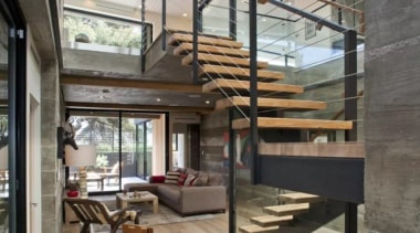 See the home handrail, house, interior design, living room, stairs, gray
