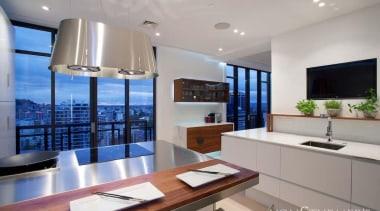 Downtown Penthouse Living - Downtown Penthouse Living - condominium, countertop, interior design, kitchen, property, real estate, gray