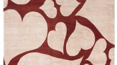 The heart motif is a favourite of Westwood's. area, brown, design, flooring, maroon, pattern, pink, red, textile, gray