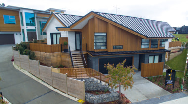 Landmark Homes Design & Build - Landmark Homes cottage, facade, home, house, neighbourhood, property, real estate, residential area, roof, siding, wall, yard, gray