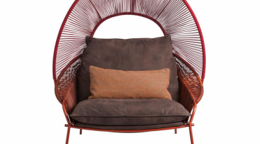 Stephen Burks and Roche Bobois collaborated on creating car seat cover, chair, furniture, product, wicker, white