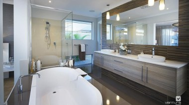Ensuite design. - The Sanctuary Display Home - architecture, bathroom, estate, home, interior design, property, real estate, room, gray