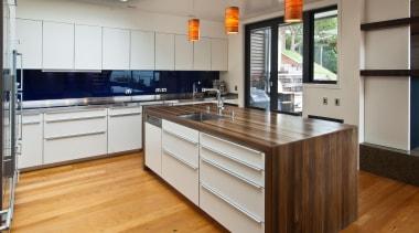 Karaka Bay Kitchen - Karaka Bay Kitchen - cabinetry, countertop, cuisine classique, floor, flooring, hardwood, interior design, kitchen, laminate flooring, real estate, room, wood, wood flooring, gray