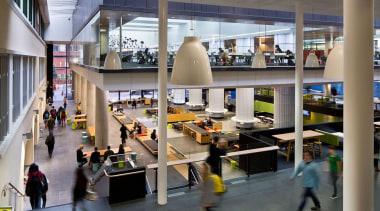 NOMINEEVictoria University of Wellington Campus Hub (2 of institution, interior design, retail, shopping mall, gray