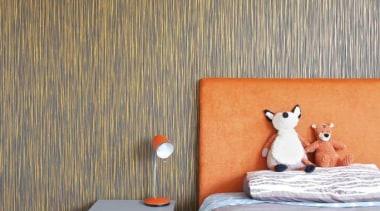 Bedroom with Orange Accent - Bedroom with Orange bedroom, floor, home, interior design, room, wall, wallpaper, brown, gray